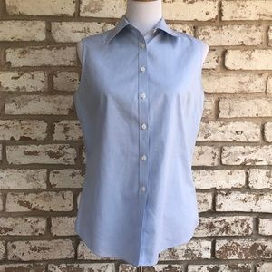 Brooks Brothers Sleeveless Button Down Shirt
